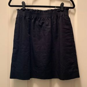 JCrew black linen mini skirt size 4
